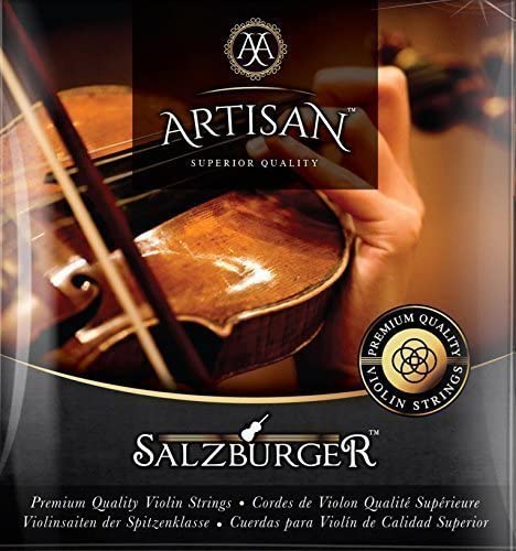 Artisan Violin Strings Premium Quality - For 4 4 or 3 4 Size. Stainless Steel Ball End. Flat wound E string eliminates finger noise. Warmest Tones & Unmatched Durability (Full set x 2)