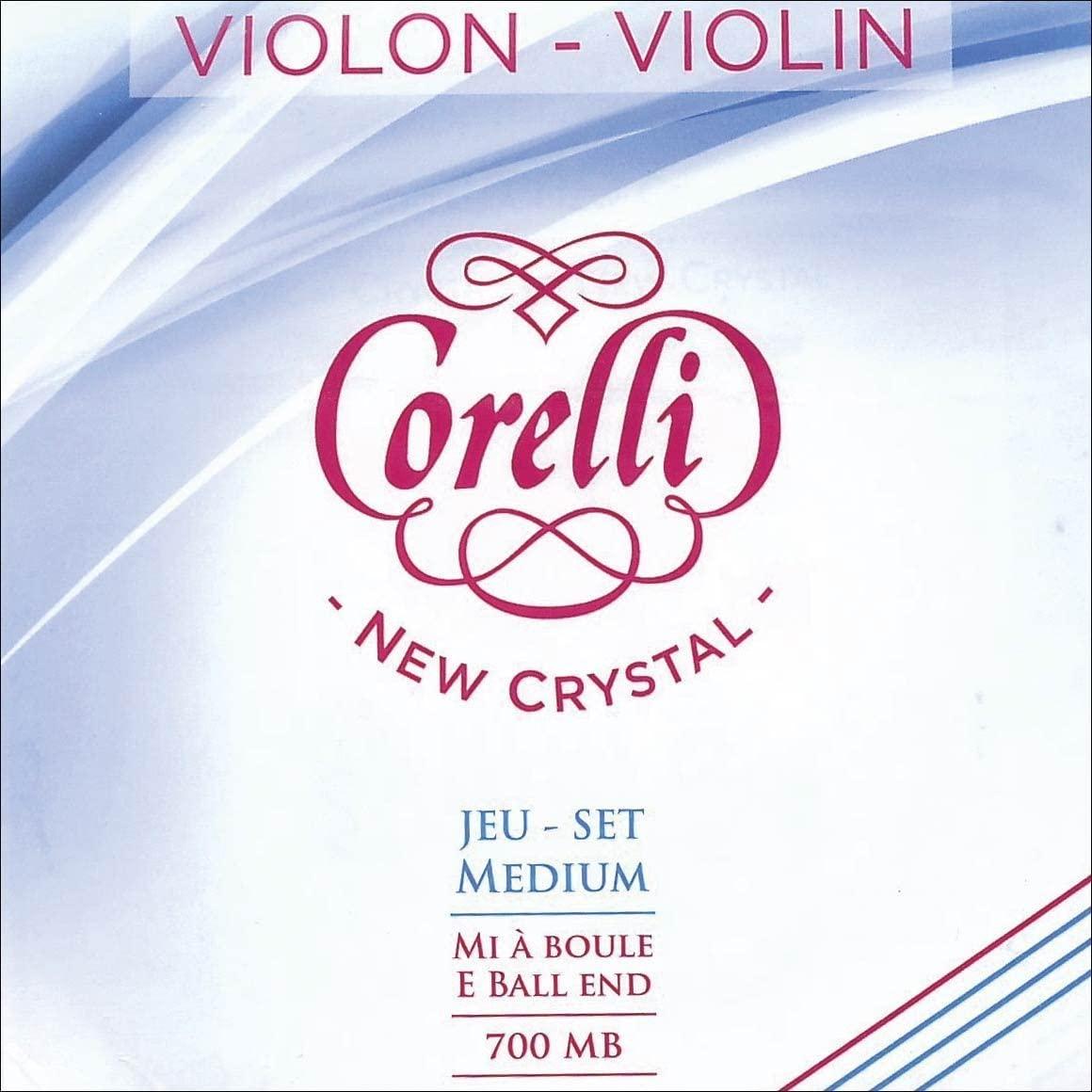 Corelli Crystal 4/4 Violin Set - Medium Gauge with Ball End E