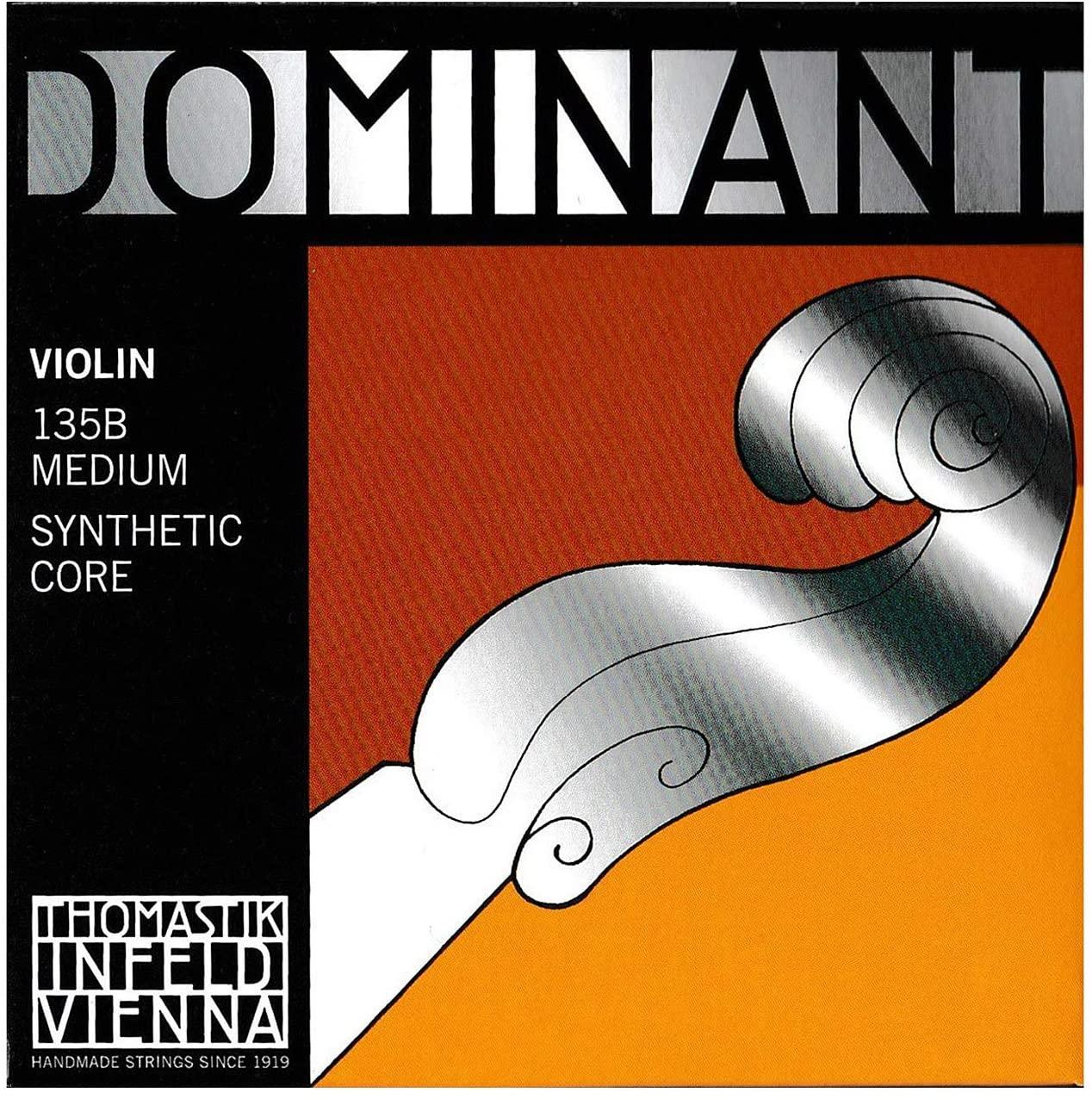 Thomastik Dominant 4/4 Violin String Set - Medium Gauge - Steel Ball-End E