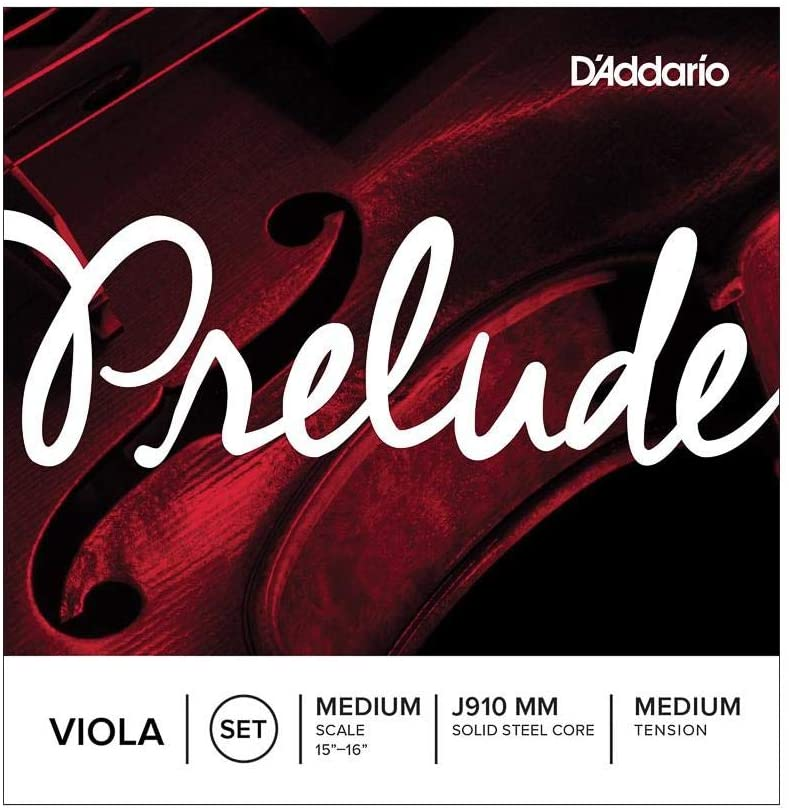 D'Addario Prelude Viola String Set, Medium Scale, Medium Tension