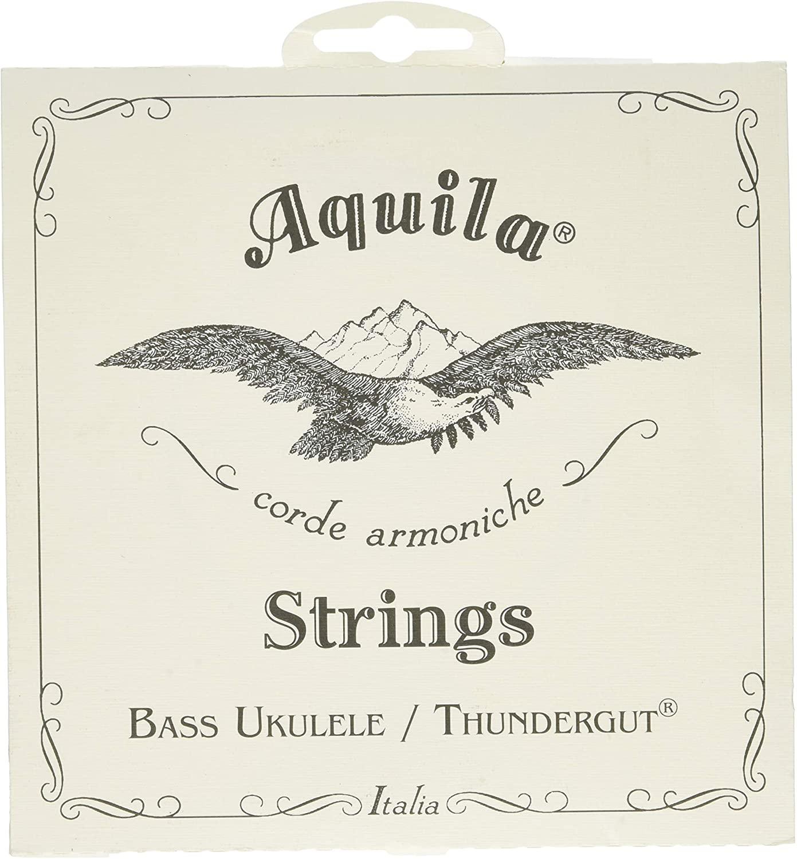 Aquila 68U Bass Ukulele Strings Thundergut, GDAE, Tuning Stability