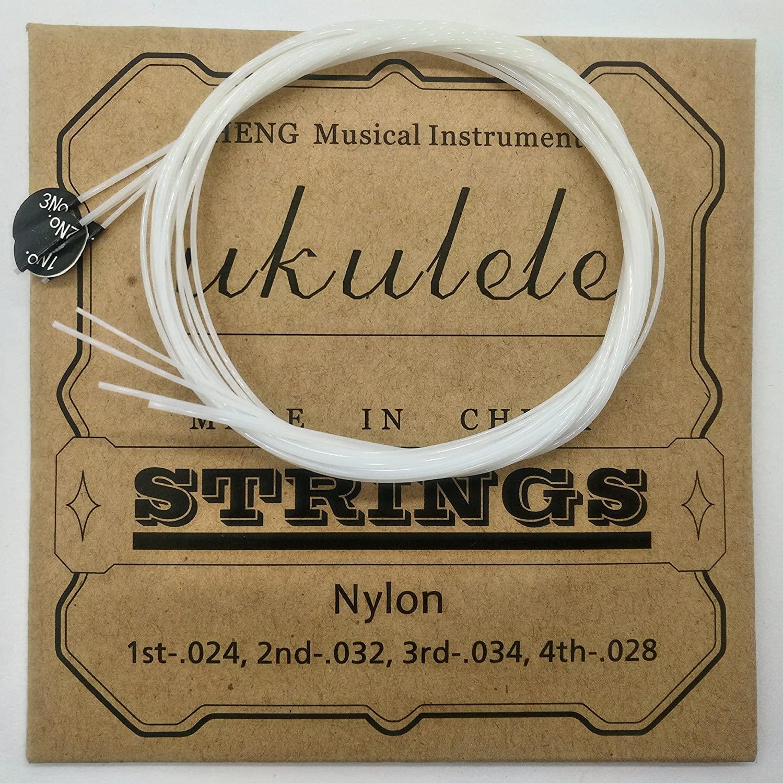 Nylon Ukulele Strings Tuning Replacement 4 Pack 4 Strings for Musical Instruments Easy for Beginners Easy on Fingertips for General Ukulele Sweet Sound