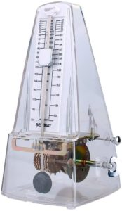 High Accuracy Mechanical Metronome for Violinist Ukulele Player, Transparent White