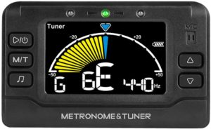 Metronome Tuner, Rechargeable 3 In 1 Digital Metronome Tuner Tone Generator for Guitar, Bass, Violin, Ukulele and Chromatic,Clarinet, Trumpet, Flute, Tuners for All Instruments